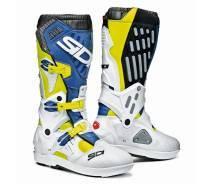 Sidi Atojo SRS -crossisaappaat, keltainen/sininen/valkoinen