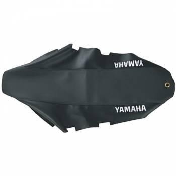 FIN -satulanpäällinen, Yamaha DT50 04-, musta (tekstillä)