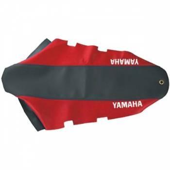 FIN -satulanpäällinen, Yamaha DT50 04-, musta/punainen (tekstillä)