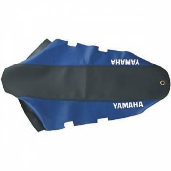 FIN -satulanpäällinen, Yamaha DT50 04-, musta/sininen (tekstillä)