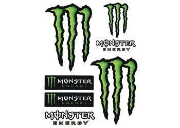 Tarra, pieni, 10x12cm, Monster 6kpl