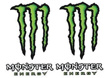 Tarra, pieni, 10x12cm, Monster 2kpl