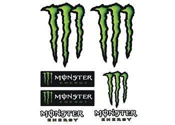 Tarra, normaali, 14x16cm, Monster 7kpl