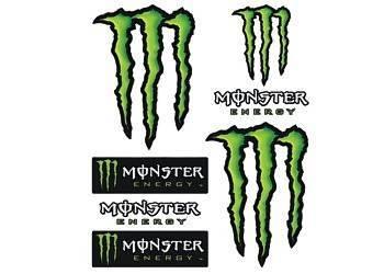 Tarra, iso, 20x24cm, Monster 6kpl