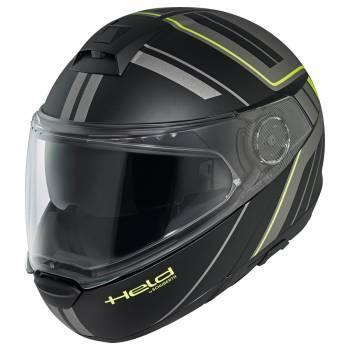 Held H-C4 Tour -kypärä, musta/harmaa/keltainen