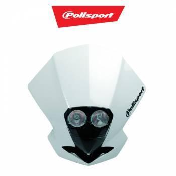 Polisport EMX Dual -valomaski, valkoinen