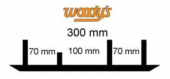 Woody's -ohjainraudat, Racing (4500)