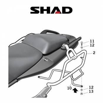 Shad -sivutelineet, Honda CBF1000 10-11