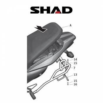 Shad -sivutelineet, Honda XL700V 07-11