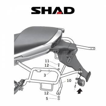 Shad -sivutelineet, Kawasaki ER-6 09-11
