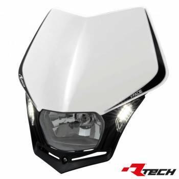 Racetech V-Face LED -valomaski, valkoinen