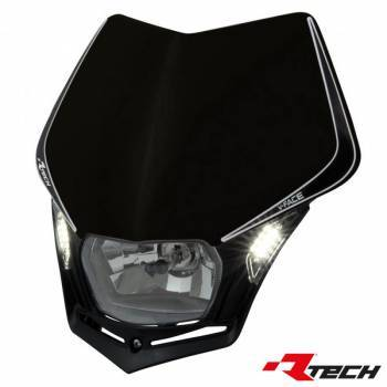 Racetech V-Face LED -valomaski, musta