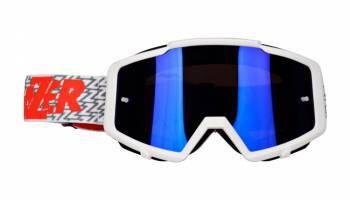 Lazer Track -ajolasit, valkoinen (blue chrome)