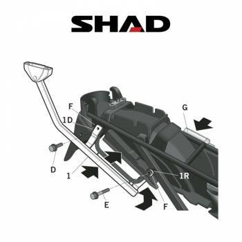 Shad -peräteline, Suzuki GSX750F 03-08