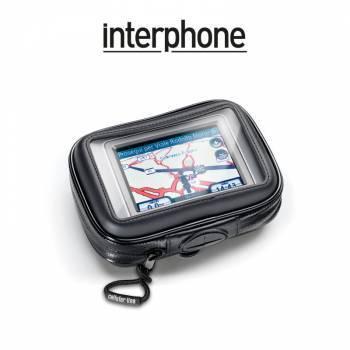 Interphone -teline+laukku tankokiinnityksellä, GPS 3.5 tuum.