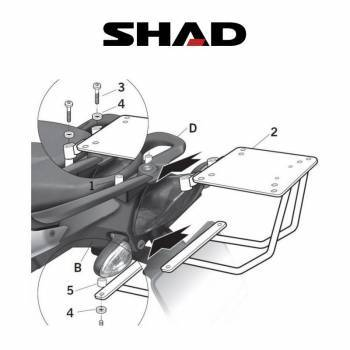 Shad -peräteline, BMW F800S 09-11