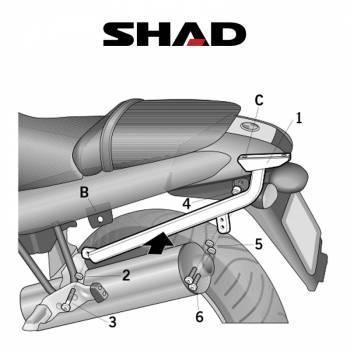 Shad -peräteline, BMW R1150R 02-08