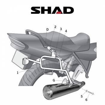 Shad -sivutelineet, Yamaha XJR1300 07-11