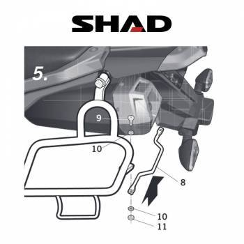Shad -sivutelineet, Yamaha XT660Z 08-10