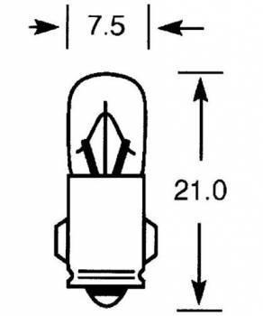 Polttimo, BA7S, 12V 2W, kirkas