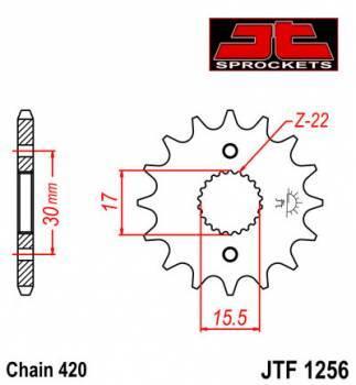 JT -hammasratas, etu, JTF 1256.14