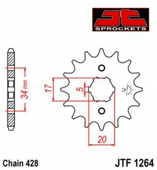 JT -hammasratas, etu, JTF 1264.15