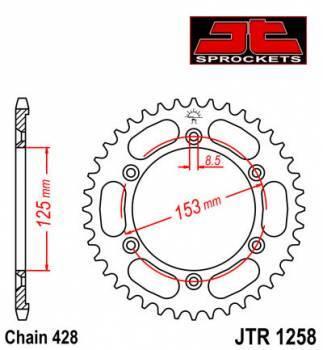 JT -hammasratas, taka, JTR 1258.54