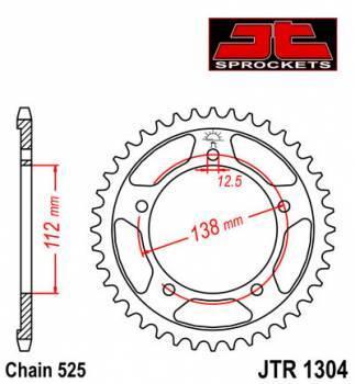 JT -hammasratas, taka, JTR 1304.47
