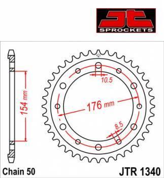 JT -hammasratas, taka, JTR 1340.44