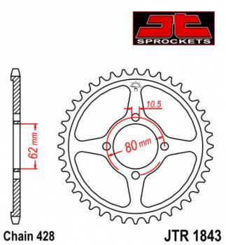 JT -hammasratas, taka, JTR 1843.49