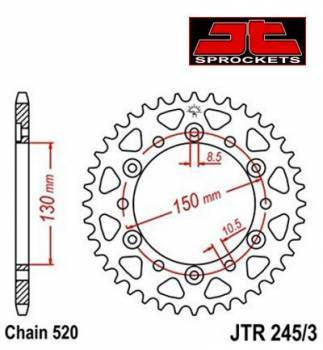 JT -hammasratas, taka, JTR 245/3.45