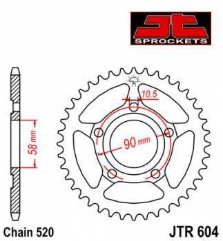 JT -hammasratas, taka, JTR 604.36