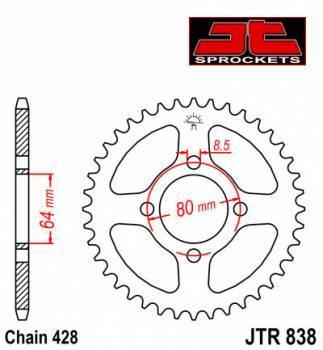 JT -hammasratas, taka, JTR 838.43