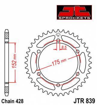JT -hammasratas, taka, JTR 839.57