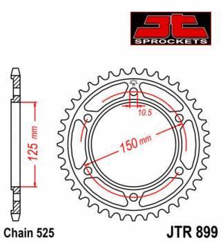 JT -hammasratas, taka, JTR 899.42