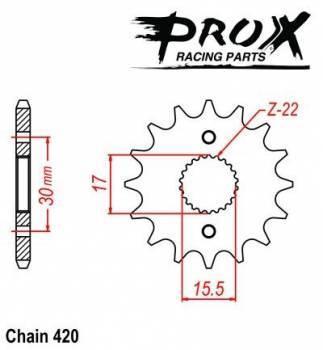 ProX -hammasratas, etu, 07.FS11086-14