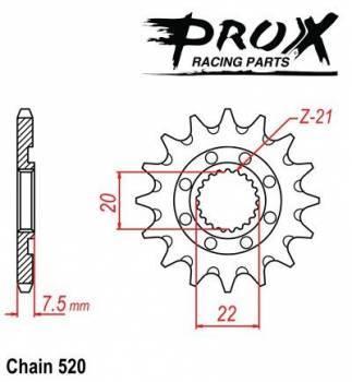 ProX -hammasratas, etu, 07.FS12004-12
