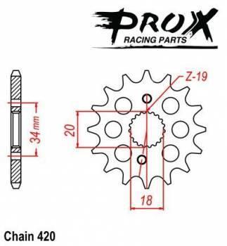 ProX -hammasratas, etu, 07.FS12007-14