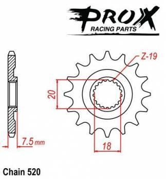ProX -hammasratas, etu, 07.FS12087-13