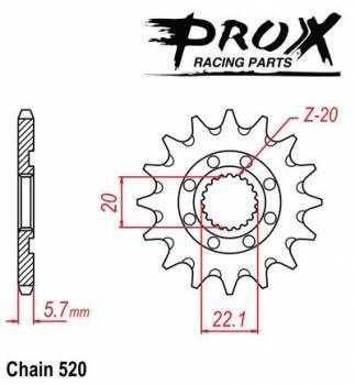 ProX -hammasratas, etu, 07.FS22005-12