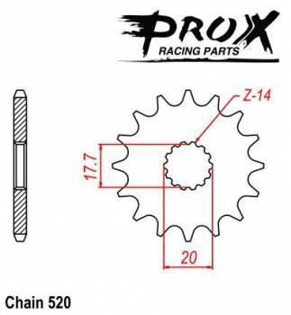 ProX -hammasratas, etu, 07.FS22099-14