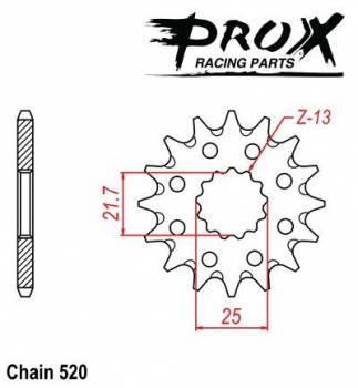 ProX -hammasratas, etu, 07.FS23099-13
