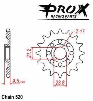 ProX -hammasratas, etu, 07.FS34005-13