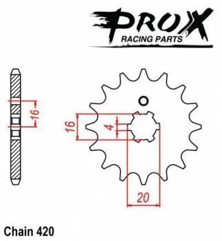ProX -hammasratas, etu, 07.FS41086-13