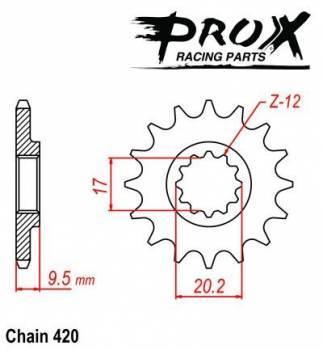 ProX -hammasratas, etu, 07.FS60004-12