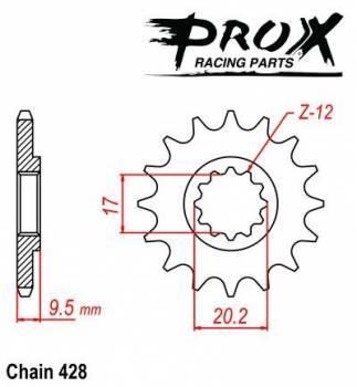 ProX -hammasratas, etu, 07.FS61004-12