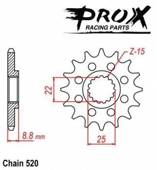 ProX -hammasratas, etu, 07.FS62093-13