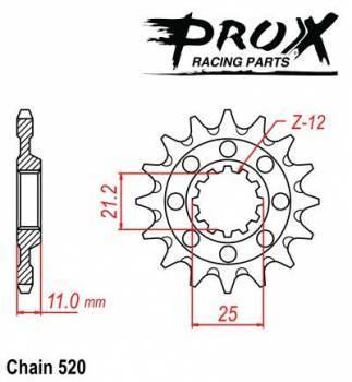 ProX -hammasratas, etu, 07.FS63000-15