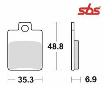 SBS -jarrupalat, ceramic, 142HF (724HF)