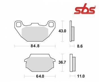 SBS -jarrupalat, ceramic, 154HF (749HF)